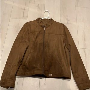 Made in Italy faux suede /leather jacket